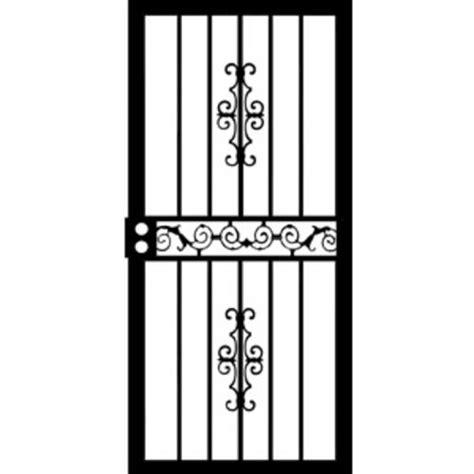 32x80 Screen Door by Grisham Mariposa 32 Quot X 80 Quot Steel Right Hinged Security Door