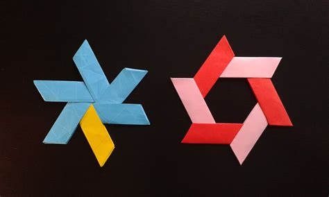 Origami Shuriken - how to make a transforming origami