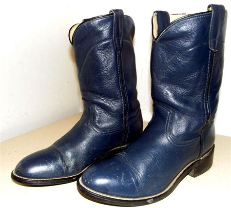 acme boots for acme brand navy blue cowboy boots size 6 d or size 7 5