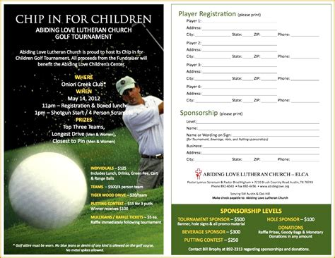 golf registration form template 5 golf registration form template fabtemplatez