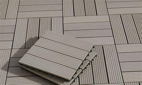 Terrassenfliesen Kunststoff Holzoptik by 10er Set Wpc Terrassenfliesen Groupon Goods