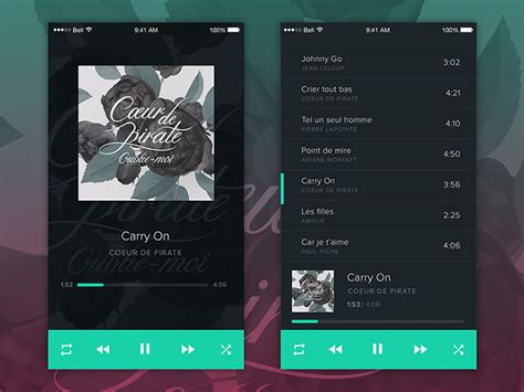 iplayer mobile player ui by dribbble