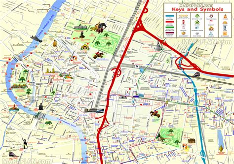 bangkok map bangkok map great things to do with family 3 day visitor trip itinerary planner