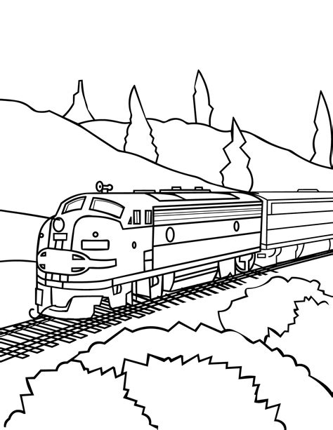 coloring book pages for trains model train coloring page handipoints