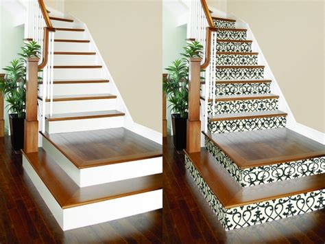 Decorative Stair Risers by Decorative Stair Risers Vinyl Stair Tile Decals Pics 36