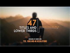 cut pro lower thirds templates 65 best lower thirds exles images lower thirds after