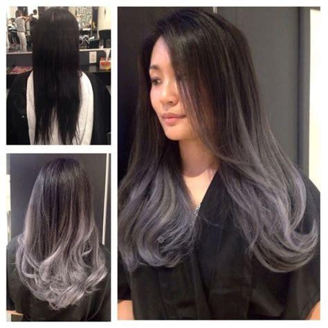 black hair with grey streaks on black women ombr 233 hair sur base brune la couleur qui cartonne en