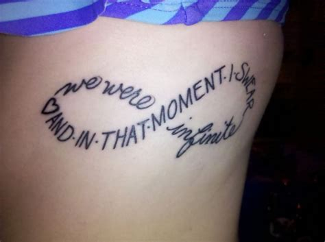 perks of being a wallflower tattoo quot and in that moment i swear we were infinite quot the perks