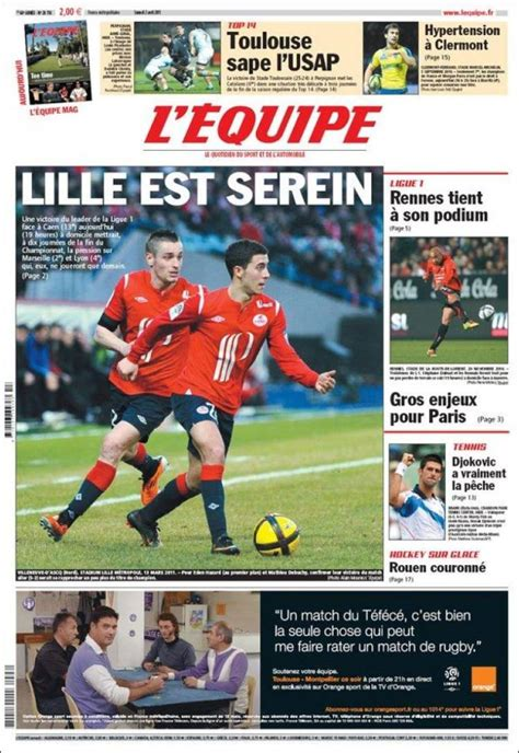 Newspaper L'Equipe (France). Newspapers in France ... L Equipe