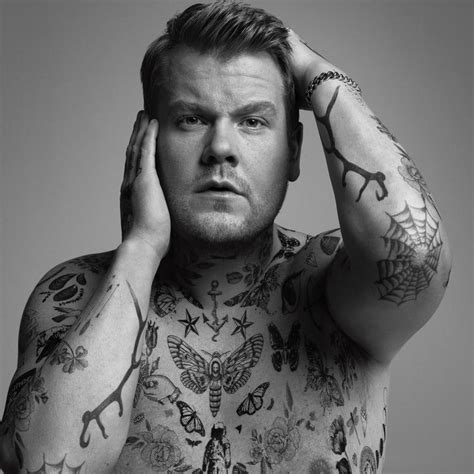 corden rocks tattoos for wsj cover shoot
