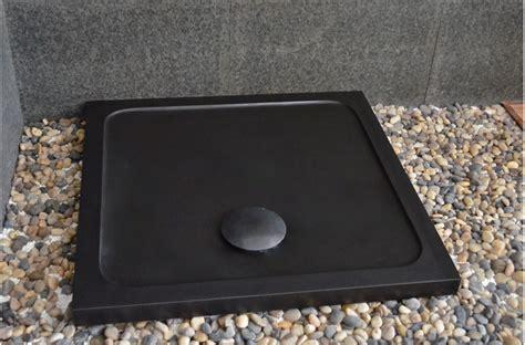 receveur de 80x80 4411 receveur de en basalte noir de mongolie 80x80