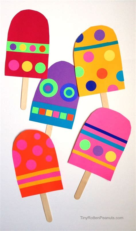 Easy Arts And Crafts With Paper - paper popsicle craft craft summer and summer crafts