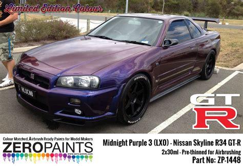 nissan midnight purple midnight purple 3 lx0 nissan gt r r34 2x30ml limited