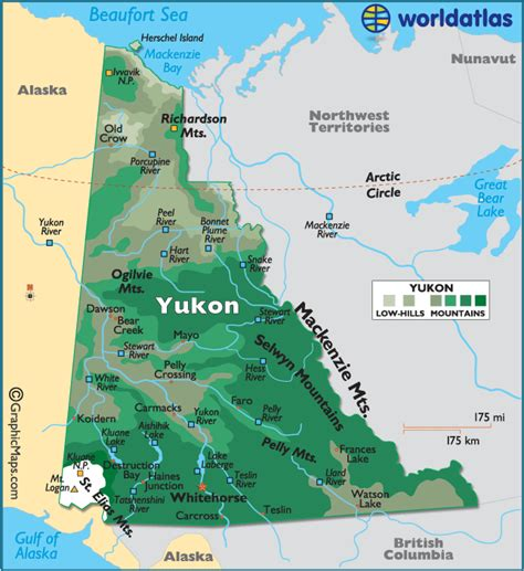 printable map of yukon yukon canada large color map