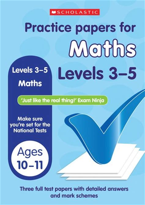 national 5 maths practice practice papers for national tests maths levels 3 5 x 6 scholastic shop
