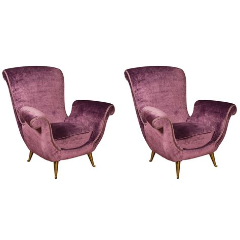 Beautiful Armchairs by Beautiful Pair Of Purple Armchairs At 1stdibs