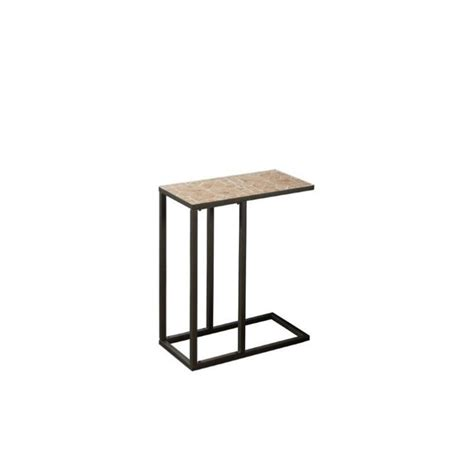 Hammered Table L by Accent Table In Hammered Brown With Terracotta Tile Top