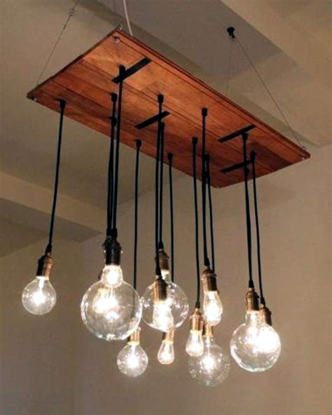 Diy Bulb Chandelier Diy Chandelier From Pallets Brighten Your Home Interior Design Ideas Avso Org