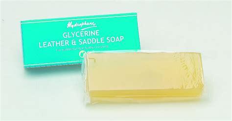 Saddle Soap On Leather by Hydrophane Glycerine Leather Saddle Soap