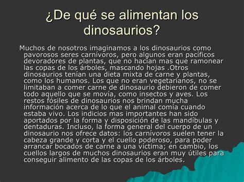 lo que se de los dinosaurios