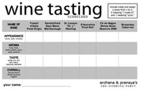 free wine tasting card template 1000 images about wine tasting ideas on