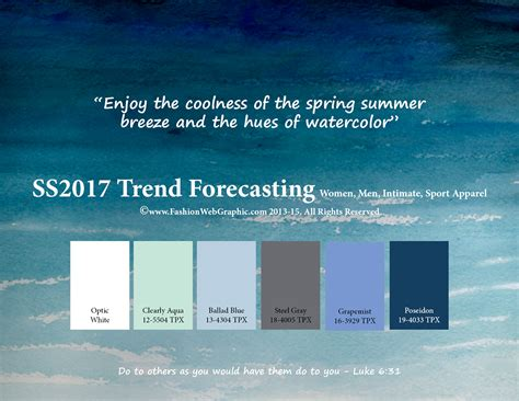 colours of the year 2017 ss2017 trend forecasting on behance