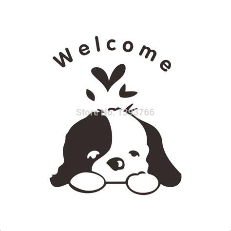 funny bathroom wallpaper aliexpress com buy welcome kids room dogs door stickers
