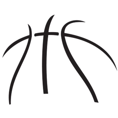 Half Half by Half Basketball Clipart Black And White Hd Letters