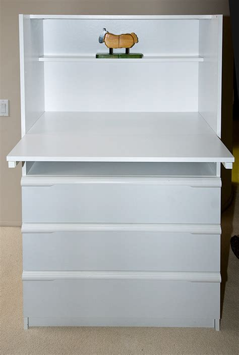 bellini white corso 3 drawer adjustable shelf changing