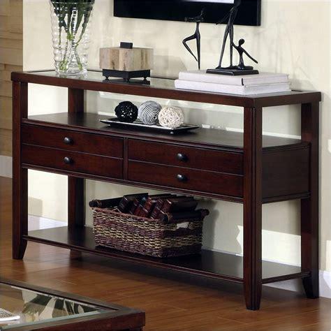 dark cherry sofa table avenue sofa table in dark cherry 61015