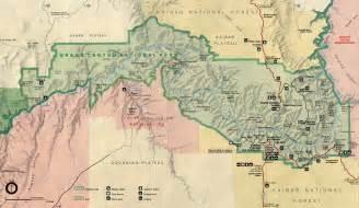map of grand arizona grand national park national park service