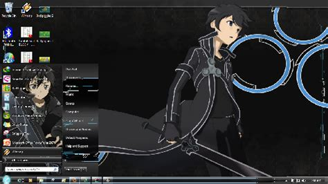 download themes windows 7 kirito theme windows 7 win skin sword art online