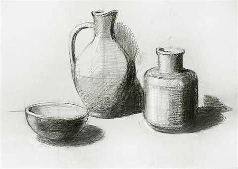 Metal Jug Vase Still Life Sketch