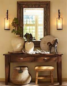 Pottery Barn Entry Way Table Decor Ideas
