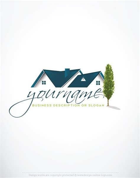 home design logo exclusive design real estate house logo compatible free