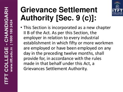 section 9 arbitration act itft the industrial disputes act 1947