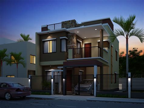 Two Story Mobile Home Floor Plans by Breathtaking Double Storey Residential House Home Design