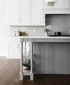 Shiplap Island Gray Shiplap Kitchen Island With Turned Legs And Shelves