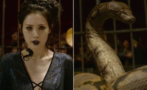 actress in fantastic beasts 2 fantastic beasts 2 introduces nagini before voldemort s
