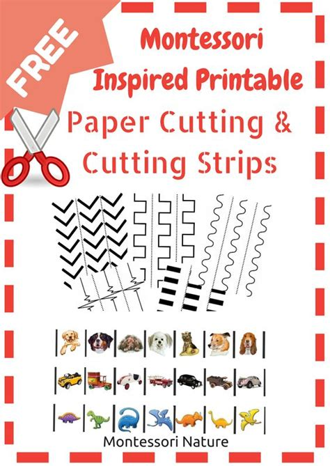 Printable Montessori Cutting Strips | montessori nature montessori printable paper cutting and