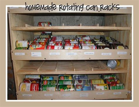 Can Rotation Shelf by Rotating Can Rack Prep Food Storage And Storage
