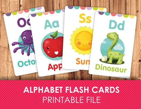 Diy Alphabet Flash Card Template by Flashcards For Printable Flash Cards Abc