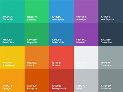 flat color picker flat ui color palette sketch freebie free