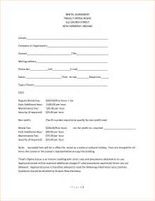 one page rental agreement template 4 simple one page rental agreementreport template