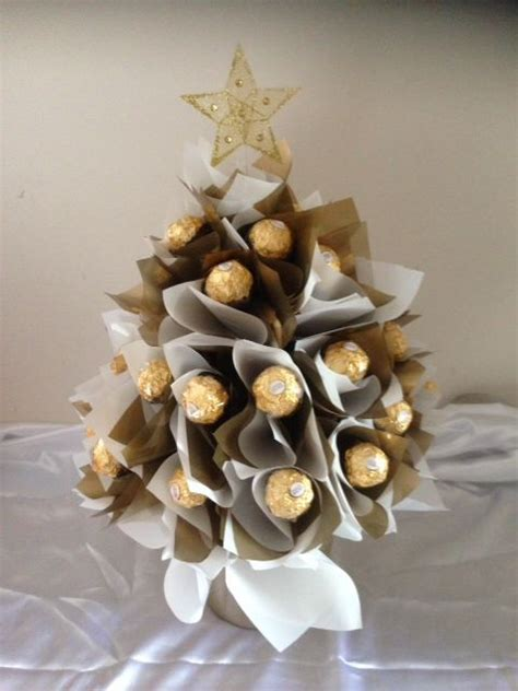 how to make a rocher christmas tree with 48 rocher chocolates ferrero rocher tree gold