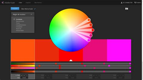 adobe kuler cr 233 ation de th 232 mes color 233 s guillaume richard