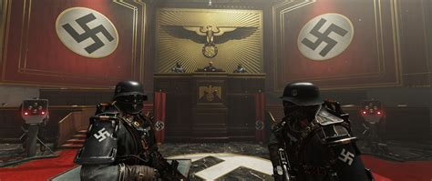 wolfenstein  review  courtroom gaming room
