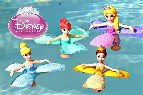 Disney princess petal float princess toy review with ariel amp rapunzel and belle youtube