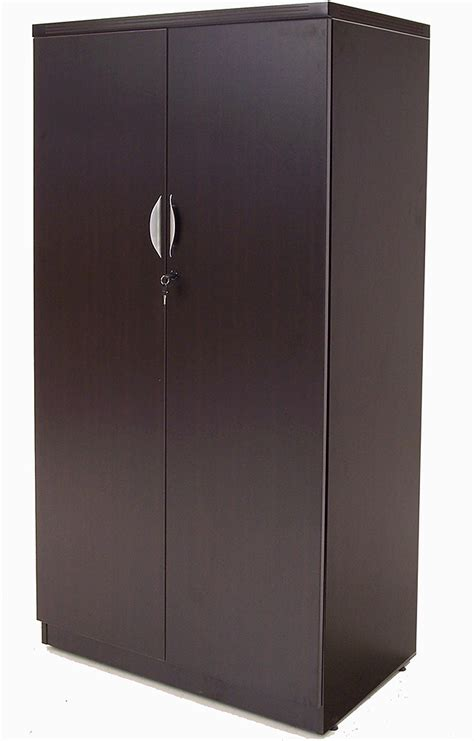 espresso locking media storage cabinet with shaker doors storage cabinets with locking doors prepac espresso