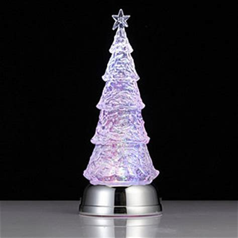 bethlehem lights led christmas tree glitter globe qvcuk com